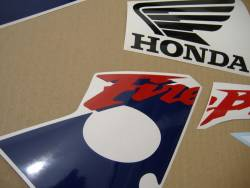 Honda 954RR 2003 SC50 white logo graphics