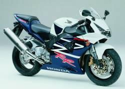 Honda CBR 954RR 2003 SC50 white decals kit