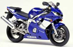 Yamaha R6 1999 5EB blue complete sticker kit