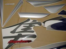 Suzuki Hayabusa 2005 blue labels graphics