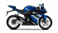 Yamaha R125 2009 blue EU stickers