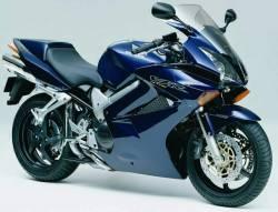 Honda vfr 800i 2002 rc46 II dark blue decals set