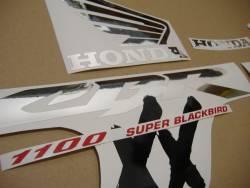 Honda CBR 1000XX 1997 grey stickers kit