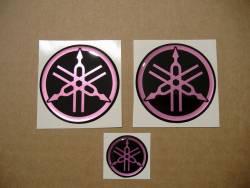 Yamaha gel 3D gas tank logo emblems kit in hot pink