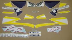 Honda 954RR 2003 SC50 yellow labels graphics