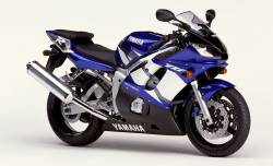 Yamaha YZF-R6 2002 5EB blue logo graphics kit