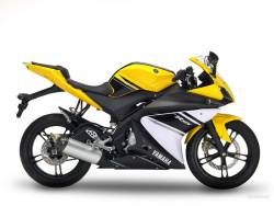 Yamaha YZF-R125 2009 yellow stickers