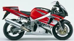 Suzuki GSX-R 750 K2 red logo graphics