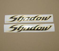 Honda shadow ouro cromo preto gas tank stickers graphics set