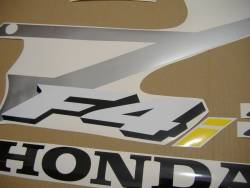 Honda 600 F4i 2004 red stickers set