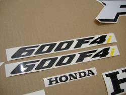 Honda CBR 600 F4i 2005 red decals kit