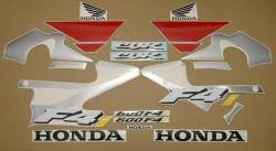 Honda 600 F4i 2004 red full decals kit