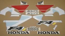 Honda 600 F4i 2001 white complete decal set