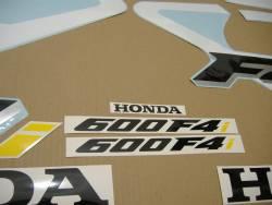 Honda 600 F4i 2001 white stickers set
