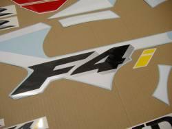 Honda cbr 600 f4i 2001 red white stickers set