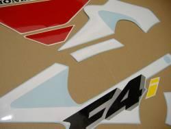 Honda CBR 600 F4i 2001 white adhesives set