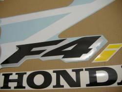 Honda CBR 600 F4 2001 white stickers kit