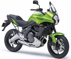 Kawasaki Versys KLE650 2007 2008 green stickers graphics set