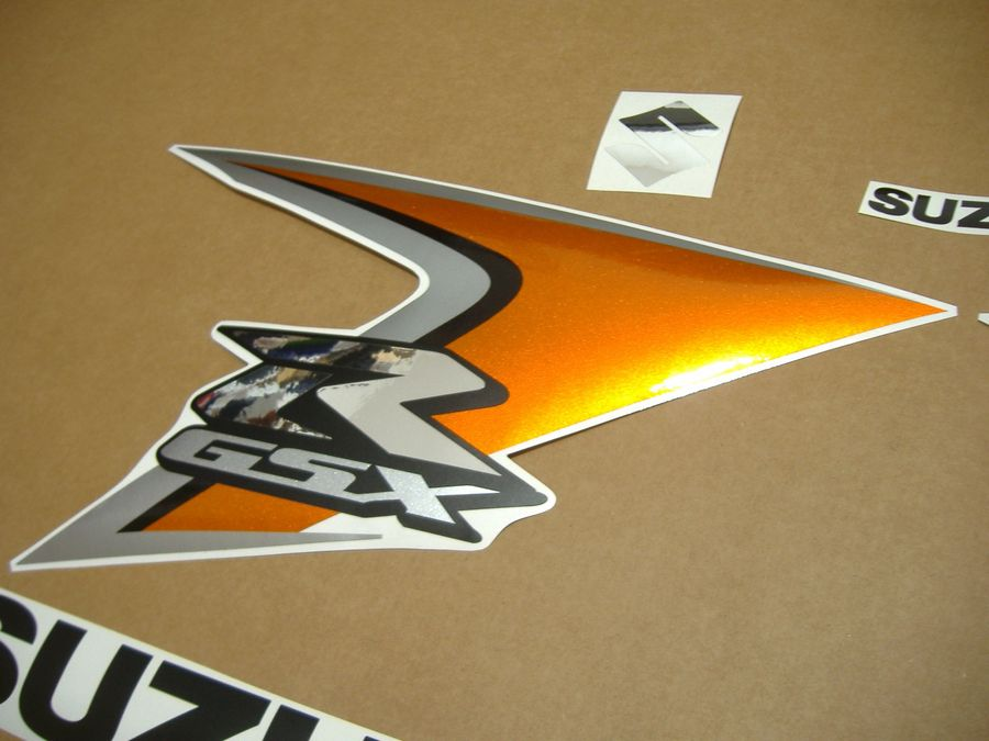 Suzuki Gsx R 600 2008 K8 K9 Decals Set Orange Silver