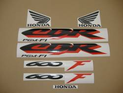 Honda 600 F4 1999 silver restoration decals