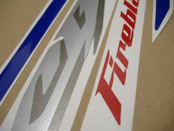 Honda 1000RR 2005 SC57 blue stickers set