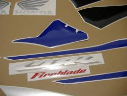 Honda 1000RR 2005 blue EU full stickers kit