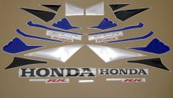 Honda 1000RR 2005 Fireblade blue adhesives set