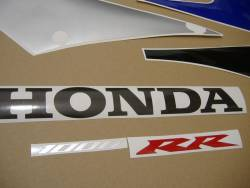 Honda 1000RR 2005 SC57 blue EU decals