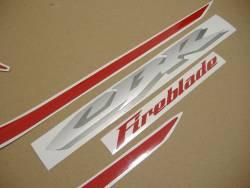 Honda 1000RR 2005 red EU labels graphics