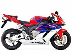 Honda cbr 1000rr 2005 red sc57 I complete decals kit