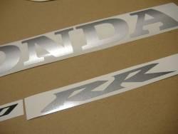 Honda CBR 1000RR 2004 silver stickers kit