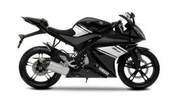 Yamaha R125 2009 black complete sticker kit