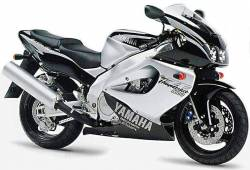 Yamaha YZF 1000R 1996 black stickers kit