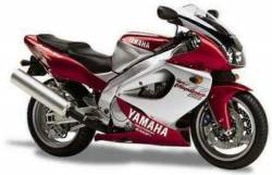 Yamaha 1000R 1997 burgundy complete sticker kit