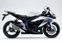 Suzuki gsx-r 750 K10 white blue stickers