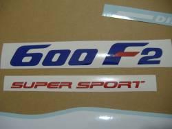 Honda 600 F2 1991 white decals