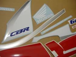Honda CBR 600 F2 1991 white stickers kit