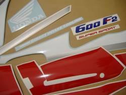 Honda CBR 600 F2 1991 white labels graphics