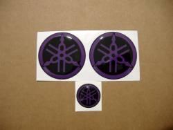 yamaha gel silicone 3d gas tank 50mm 25mm emblems badges purple
