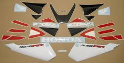 Honda CBR 929RR 2001 red stickers kit
