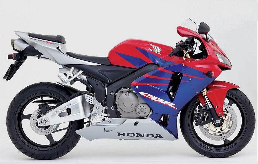 Honda CBR 600RR 2005 2006 decals set - red/blue/silver