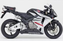 Honda 600RR 2005 black stickers set