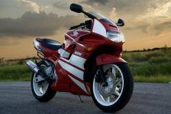 Honda cbr 600 f2 red white decals kit set