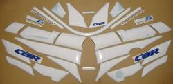 Honda cbr 600 f2 red white stickers set