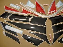 Honda 600 F2 1991 red reproduction decals
