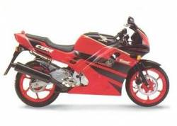 Honda CBR 600 F2 1991 red decals kit