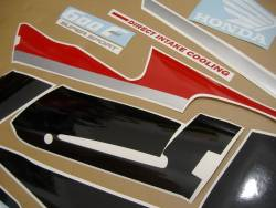 Honda 600 F2 1991 red complete sticker kit