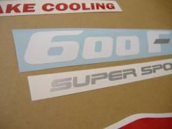 Honda 600 F2 1991 red full decals kit