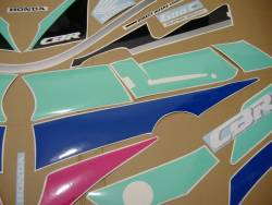 Honda 600 F2 1991 pink complete sticker kit