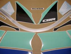 Honda 600 F2 1991 green full decals kit